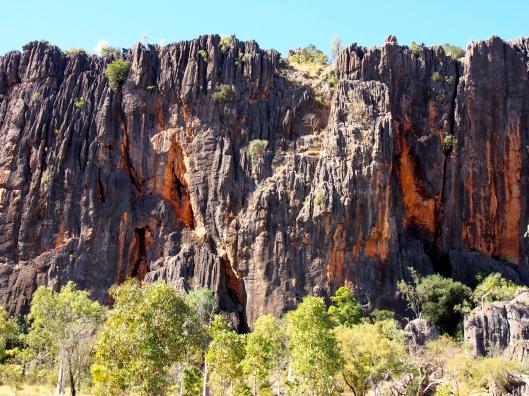 Windjana gorge.  Beautiful cliffs....