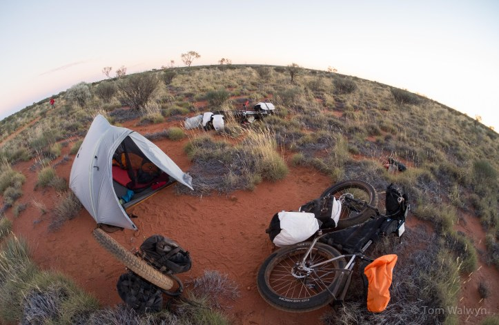 Camping on a patch of free ground when the day was done.  The best time of the day