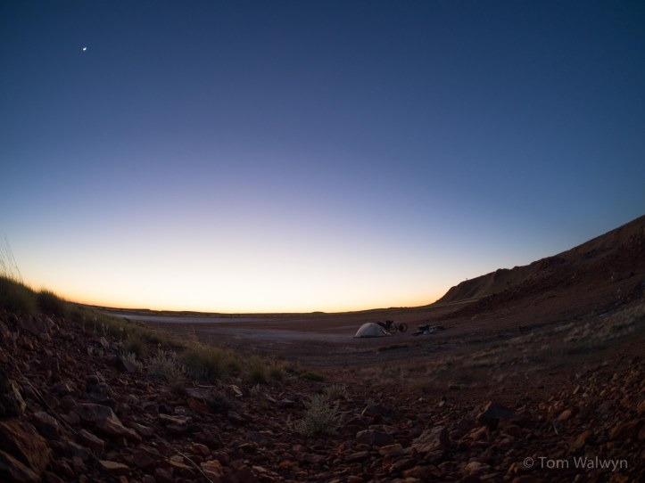 Dawn light on camp (Rokinon 7.5mm Fish-eye)