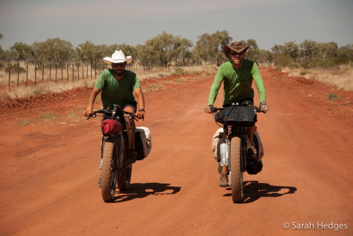 An end.  Riding into Billiluna, 26 days after we left Wiluna