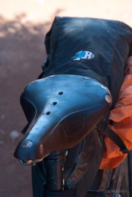 No worse for all the wear it had suffered.  Both of us used leather saddle - mine a Brooks B17 and Scott's a Sella Anatomica.  With the heat, the smoother surface helped reduce abrasion.  We would both recommend padded bicycle shorts after our experience of the corrugations.