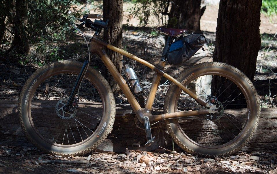 """The 'fat' version with Marge Lite rims and Husker Du 26x4.0"""" tyres.  No room for anything wider at the rear."""