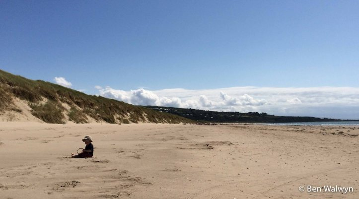 Bryn pick his own patch of beach to occupy