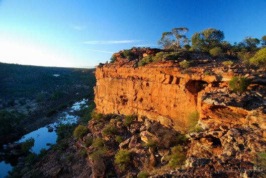 Hawk's Head at dawn - in the Kalbarri Gorge.  Great ideas seem to crop up again - we headed up here for the June long weekend in 2010 and again in 2015.