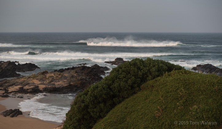 Morning surf - the wind shifted overnight bringing dousings of sand with every gust.